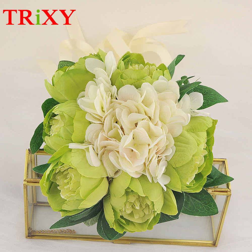 Weddings & Events Trixy B15 Free Shipping Charming Wedding Bouquet Bride Bridal Holding Flowers Pink Rose Artificial Flowers Bridal Bouquets Wedding Accessories