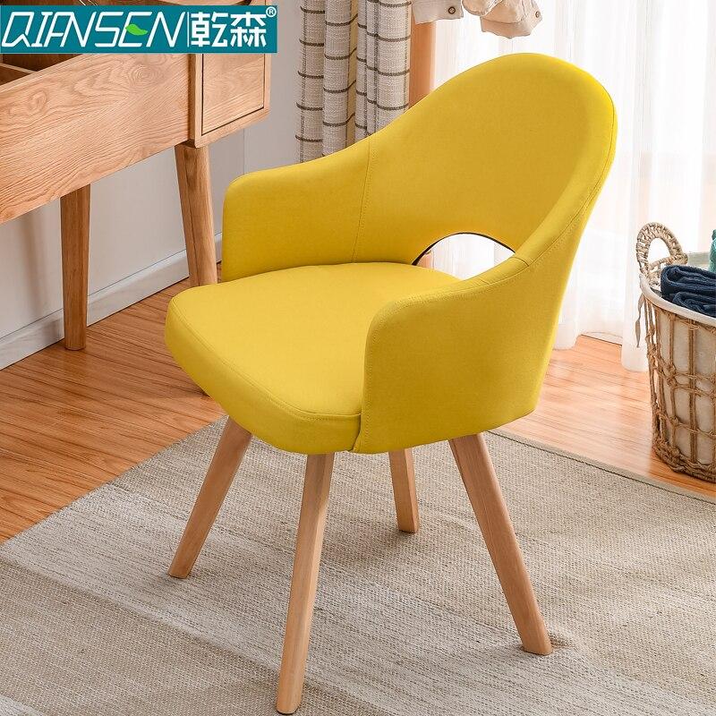 Современный простой стул для ленивых в скандинавском стиле, деревянный стул для ресторана, стул для обучения, простой стол и стул