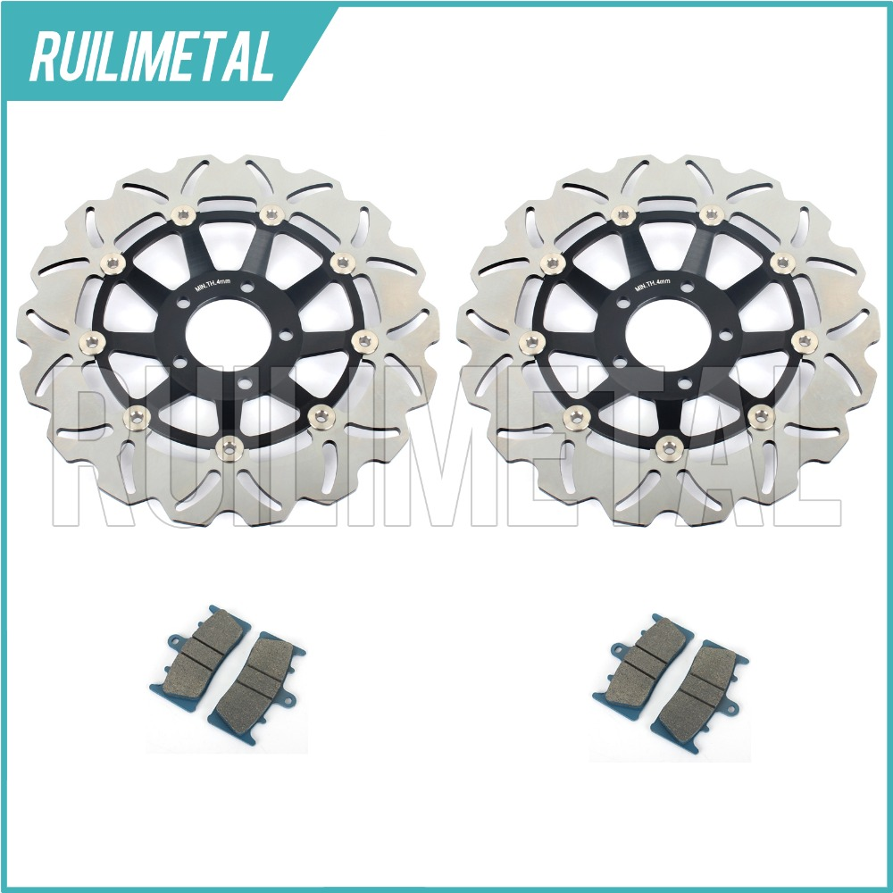 Front Brake Discs Rotors + Pads Set for Suzuki GSXR 750 W WR WS 94 95 1994 1995 GSX-R 1100 WP WR WS WT 93-96 1993 1996 New цены онлайн