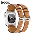 New Design Hoco Brand Double-button band Genuine Leather Watchbands Link Bracelet Straps 38MM 42MM For Apple Watch Series 2