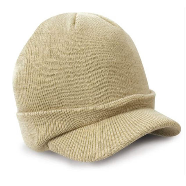 placeholder 2017 Woolen Knitted Peaked Cap Army Beanie Hat Autumn Winter  Warm Wooly Mens Ladies Cadet Cap 1d88278b8e3
