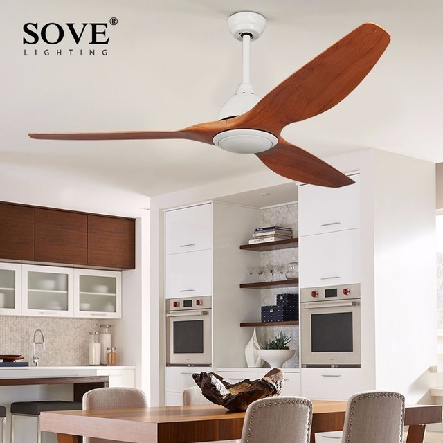 64 Inch Village Modern Ceiling Fans With Lights Remote Control