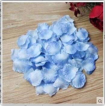 2000 шт. / партия 5* 5 см шелковые лепестки роз на свадьбу, Романтические искусственные лепестки роз Свадебные розы - Цвет: Light Blue