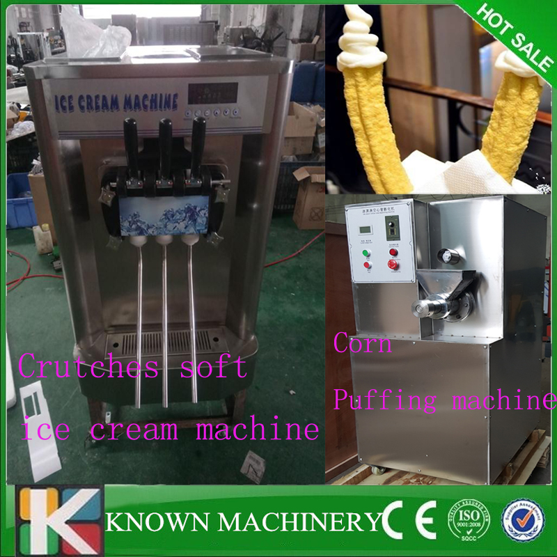 304 stainless steel  Crutch Shape Corn Puffed maker machine+Sticks shapes soft ice cream machine for filling free shipping lole капри lsw1349 lively capris xl blue corn