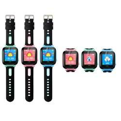 Детские умные часы gps трекер анти потерянный монитор SOS Вызов смарт-камера телефон часы 1,44 дюймов экран розовый синий милые детские подарки