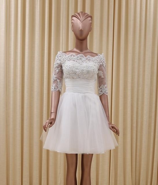 Caliente venta 2016 medias mangas baratos vestidos cortos de la boda ...