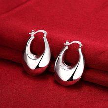 Luna stili 925 bollo argento placcato regali di giorno 2017 Nuove forniture delle donne del cerchio orecchino Brincos de Prata modo di alta qualità