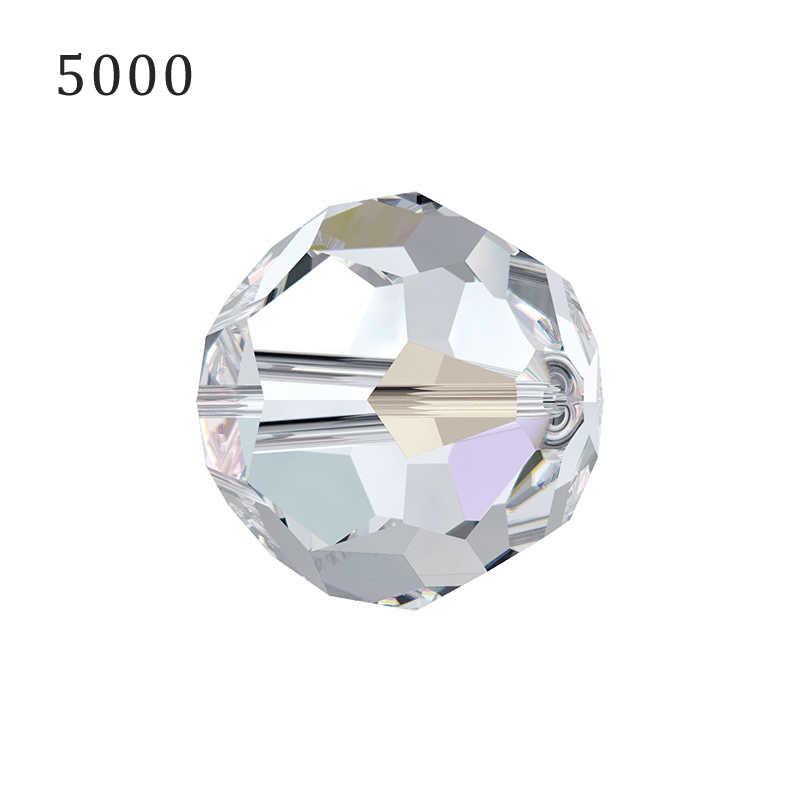 (1 חתיכה) 100% מקורי קריסטל סברובסקי 5000 נצחי עגול חרוז ריינסטון תוצרת אוסטריה עבור DIY צמיד תכשיטים