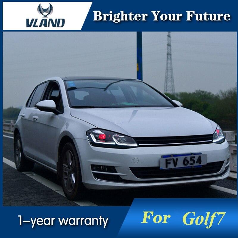 Auto Front Headlamp for VW Golf7 Headlights Golf 7 MK7 2013 2018 Car LED Headlight DRL Lens Double Beam Bi Xenon HID