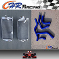 R&L aluminum radiator For Honda CRF450R CRF450 CRF 450R 2015 2016 15 16+BLUE hose