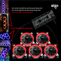 Aigo Fan Octave Space R5 Computer Desktop Fan Box 12 Cm Aurora Aperture Water Cooling Fan