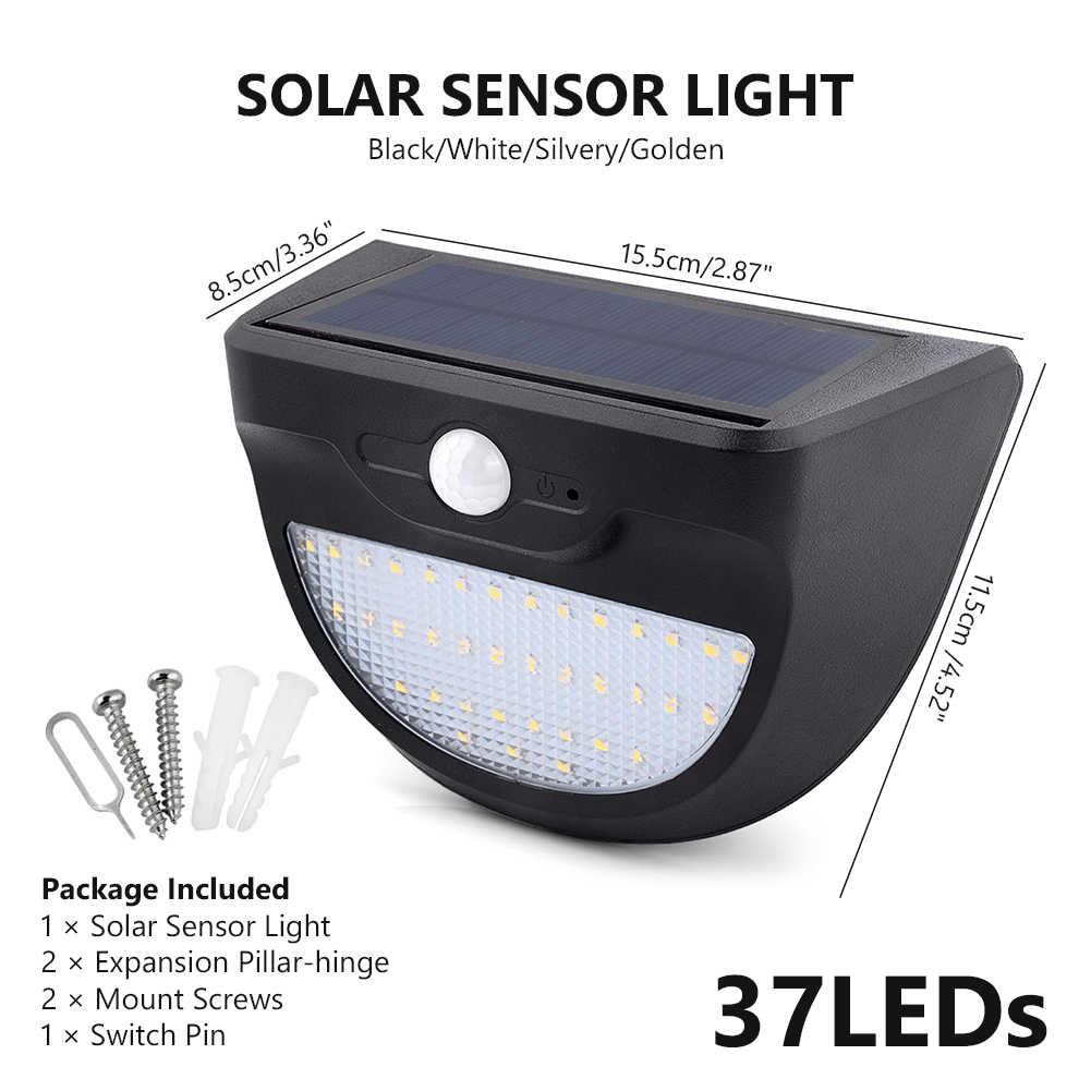 Tsleen Luminaria солнечные открытый свет 24 37 46 светодиоды Водонепроницаемый движения PIR Сенсор путь стены Главная Сад безопасности лампа