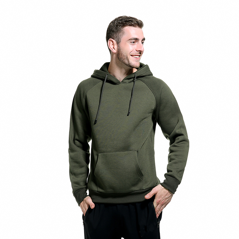 Men Autumn Winter Sweater Warm Plus Velvet Lose Long Sleeve Sweater Casual Simple Solid Color Hooded Sweater