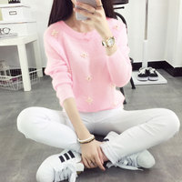 Short Paragraph Sweater Knitted Sweater Korean Version Of The Student Sets Of Wool Sweater Women Clothes