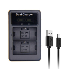 SANGER LP E6 LP-E6 E6N LED USB Dual Charger for Canon EOS 5DS R 5D Mark II Mark III 6D 7D 80D EOS 5DS R Camera Battery цены онлайн