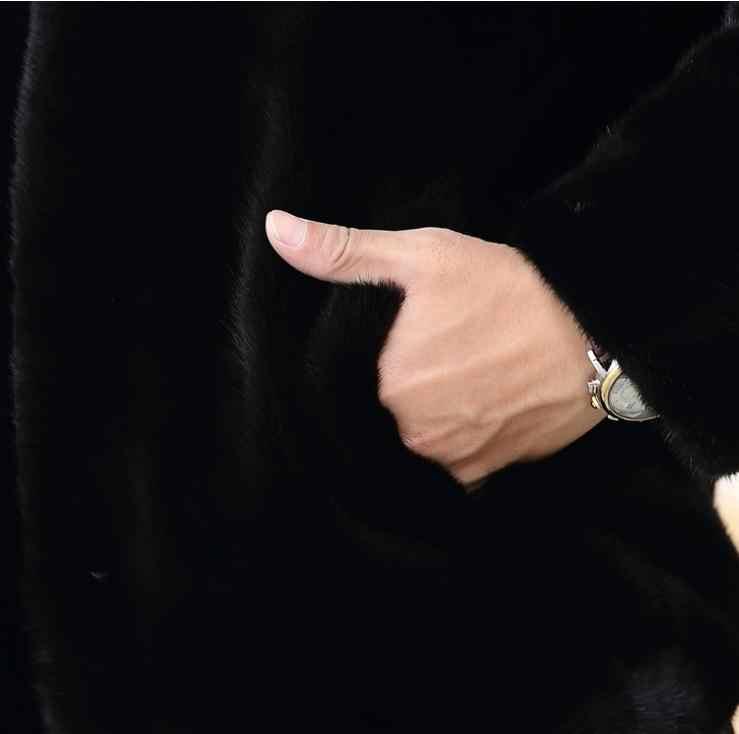3Xl/6Xl Большие размеры, для мужчин зима-осень весна искусственная Меховая куртка плюс Размеры черный Искусственная меховая верхняя одежда Для мужчин на молнии, пальто с искусственным мехом, S44