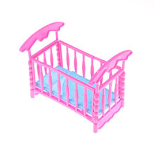 TOYZHIJIA 2018 Baby Bed Super Favorite Design Toys Cute Bed For Small Kelly Dolls For Dolls Girls Gift Doll Accessories(China)
