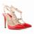 Remaches de moda Los Zapatos de tacón alto Cerrojo Dedo Del Pie Puntiagudo Tacones Delgados Sandalias de Las Mujeres Del Remache Zapatos de Punta en punta Sandalias Femeninas Bombas 302-5 PA
