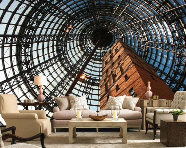Beibehang Custom Tapete 3D Vision Große Vintage Gebäude ...