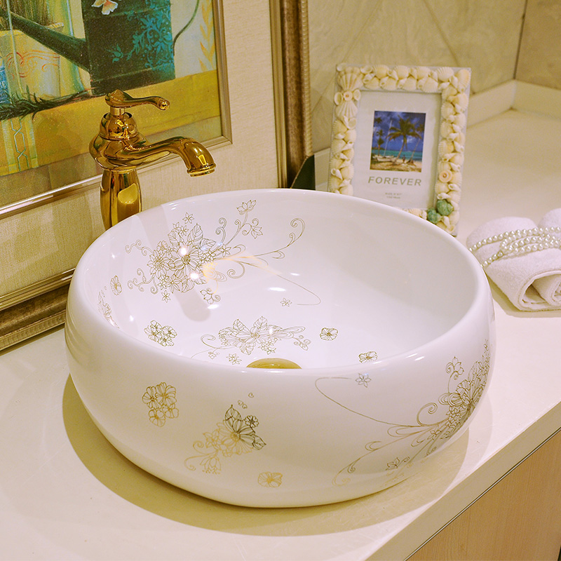 China Artistic Porcelain Handmade Porcelain Lavabo Bathroom Vessel Sinks ceramic wash basin washbasin (1)
