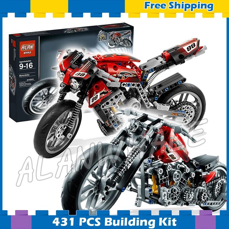 431 Piezas 3353 Technic Moto Calle Motocicleta Modelo Bloques De Construcción Volante Delantero Juegos De Ladrillos Compatibles Con Lego
