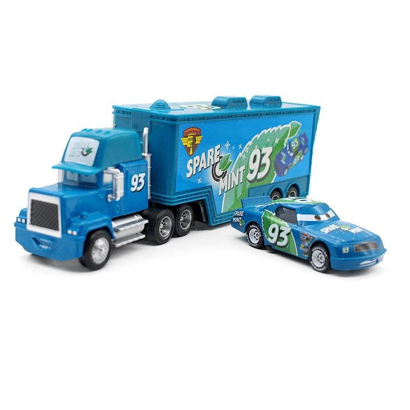 disney pixar cars mack uncle truck and spare mint small car 1 55 diecast metal alloy. Black Bedroom Furniture Sets. Home Design Ideas