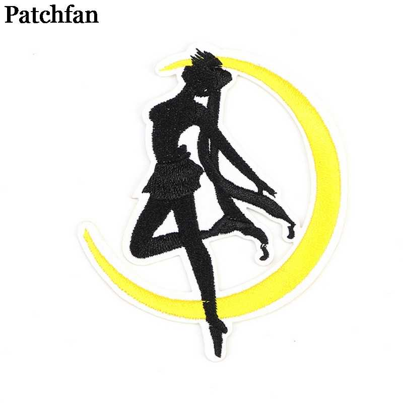 Patchfan Sailor moon del fumetto Ricamato patch di ferro sul Cucito badge jersey Applique accessori FAI DA TE Patchwork adesivi 2121