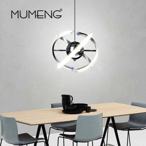 Image 3 - MUMENG LED ペンダントランプロフトハンギング 23 ワット DIY キッチンサスペンションアクリルダイニングルーム玄関光沢 AC85 265V 器具