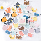 45 pcs/pack Cute many coloured cats Label Stickers Decorative Stationery Stickers Scrapbooking DIY Diary Album Stick Label