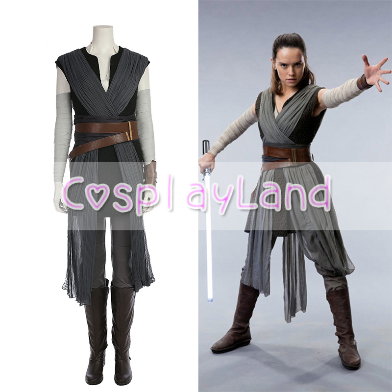 Star Wars The Last Jedi Rey Cosplay Costume Carnival Halloween Costumes Star Wars 8 Rey Costume Cosplay Suit Custom Made Outfit