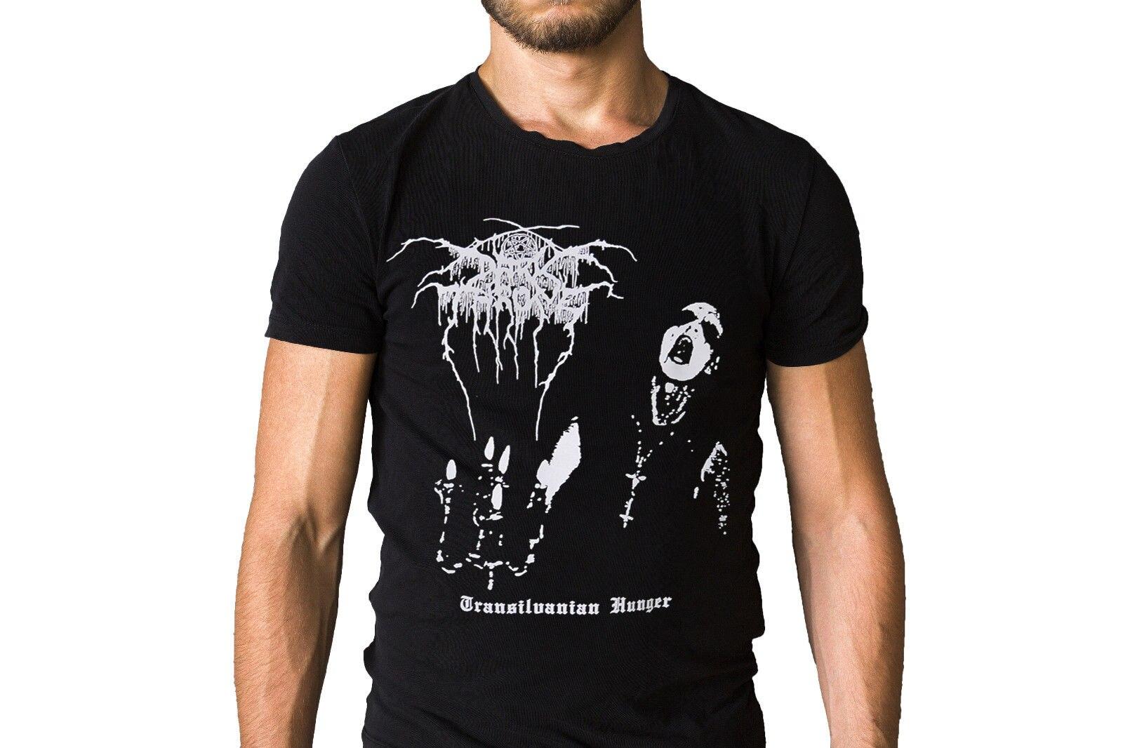 Darkthrone Transilvanian Hunger Logo Double Print Black T-Shirt
