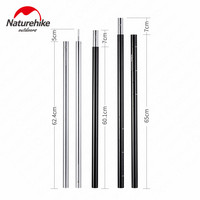 Naturehike Camping Tent Accessories Tent Pole Sun Shelter Folding Pole Aluminium Alloy Material Folding Portable Outdoor Camping