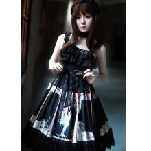 Gothic Dresses  Lolita Skirt Renaissance Dress Kawaii Clothes Halloween Casual Black Cosplay Costume