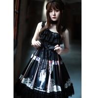 Gothic Dresses Lolita Skirt Gothic Renaissance Dress Kawaii Clothes Lolita Halloween Casual Lolita Black Cosplay Costume