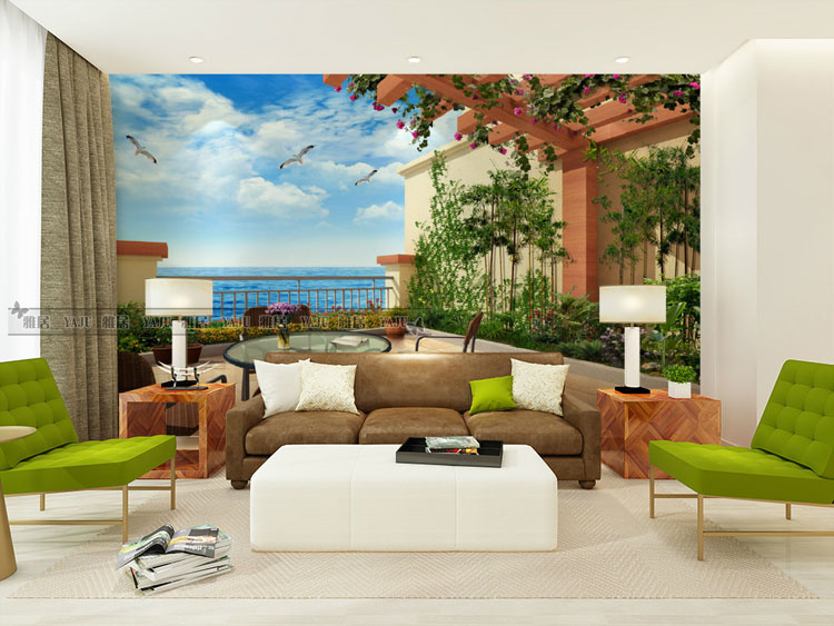 Free Shipping living room TV wall 3D Wallpaper bedroom hotel coffee house nature landscape mural wallpaper  free shipping 3d personality wallpaper sofa tv coffee house bar backdrop living room bedroom bathrom wallpaper mural