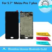 M & Sen Для 5,7 ''meizu pro 7 Plus ЖК дисплей экран дисплея + Сенсорная панель планшета с рамкой Белый/Черный Бесплатная доставка