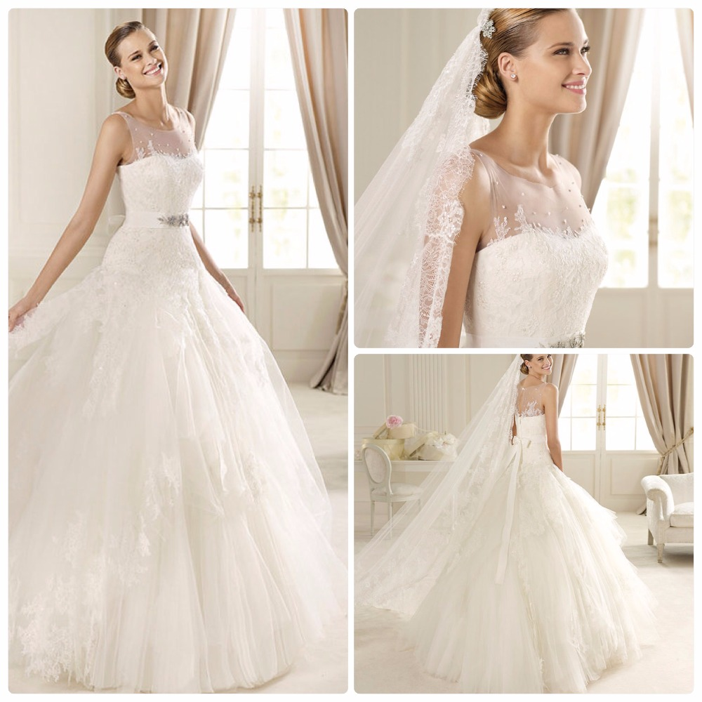 2017 Wedding Gown Elegant Sleeveless Strapless Lace