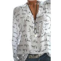 Frauen Blusen Mode Lange Hülse Drehen Unten Kragen Büro Hemd Chiffon Bluse Shirt Casual Tops Plus Größe Blusas Femininas