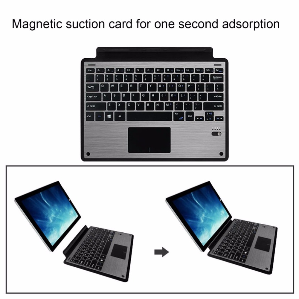 Wireless Bluetooth Keyboard Case Ultra Slim Aluminium Keyboard For Microsoft Surface Pro3 Pro4 Pro5 Detachable Keyboard Cover detachable official removable original metal keyboard station stand case cover