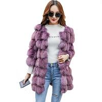 100% в натуральном лиськом меху женское короткое теплое пальто женская зимняя верхняя одежда из натурального меха куртки из натуральных мате