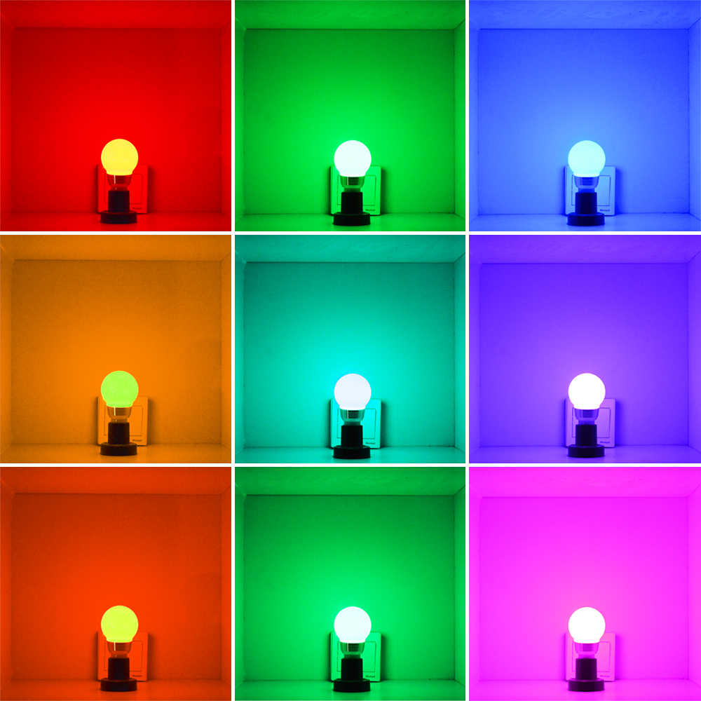 Image 3 - LED Night Light Lamp B22 rgb bulb holiday Dimmable Stage Lighting + 24key IR Remote Control 110V 220V 16 Color Magic blub-in LED Bulbs & Tubes from Lights & Lighting
