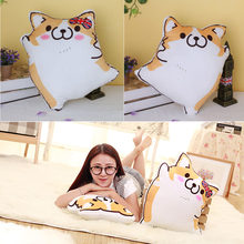 Cartoon Figure Corgi Plush Pillows Stuffed Animal Cushion Valentine's Day Gift Male/Female(China)