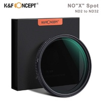 K&F Concept NOX Spot ND2 to ND32 Fader ND Filter 52/58/62/67/72/77/82mm Neutral Density Variable Filter For Canon Nikon Sony