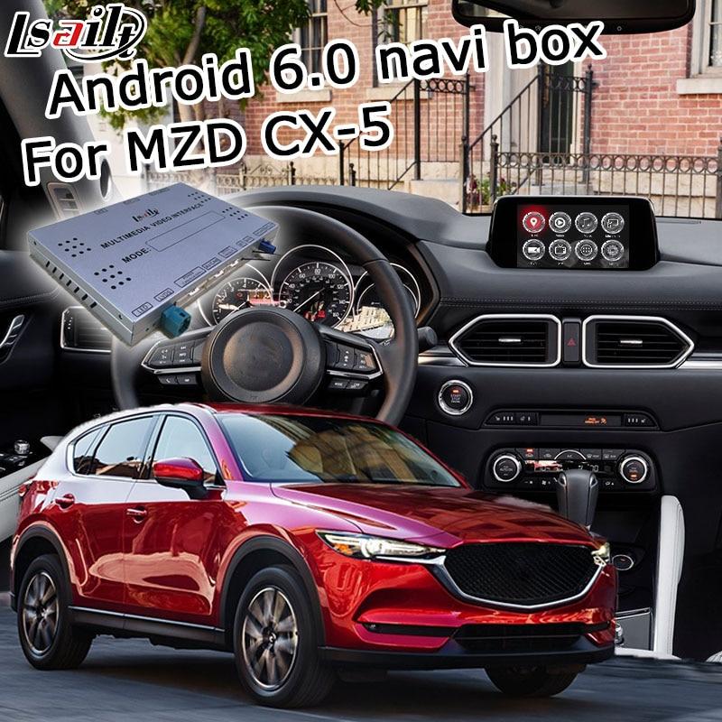 Android 6.0 GPS box navigation pour nouvelle Mazda CX-5 vidéo interface boîte avec Carplay miroir lien youtube google jouer waze yandex
