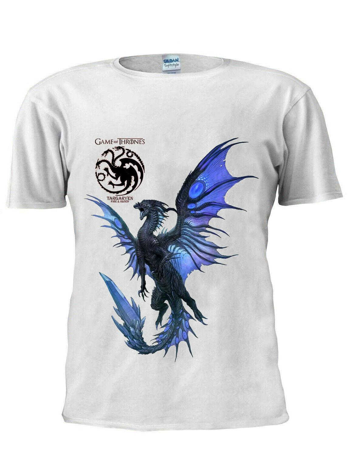 T-Shirt Game OF Thrones Targaryen Dragon hommes femmes T-Shirt unisexe M207