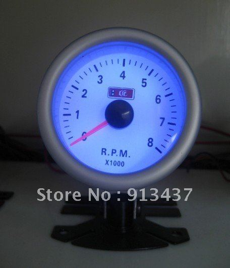 "HOT SELL  ANY SPORT CAR RPM 2"" 52MM TACHOMETER BLUE LED GAUGE  PARTS/AUTO ACCESSORIES LED7705"
