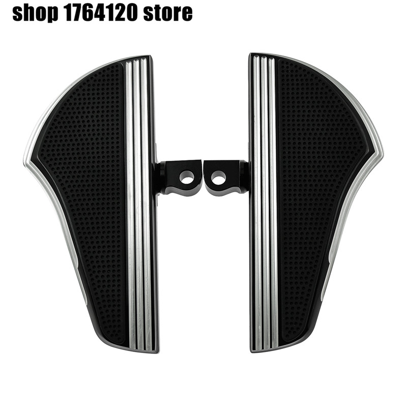 Motorcycle Black Chrome Foot Pegs Footrest Floorboard Pedal For Harley Sportster XL 883 1200 Touring Dyna
