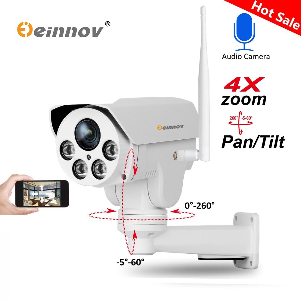 Einnov IP Macchina Fotografica Senza Fili Wifi PTZ 4X Zoom 2.8-12mm 3.6 millimetri 6mm Full HD 1080 P 960 P di Sicurezza Esterna Video di Sorveglianza Audio Cam