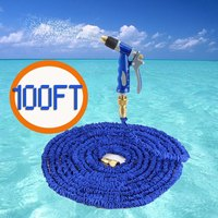 2016 Extensible Magic Flexible Garden Water Hose 100FT For Drip Irrigation Pipe Car Watering With Spray Perfect Match Gun Blue