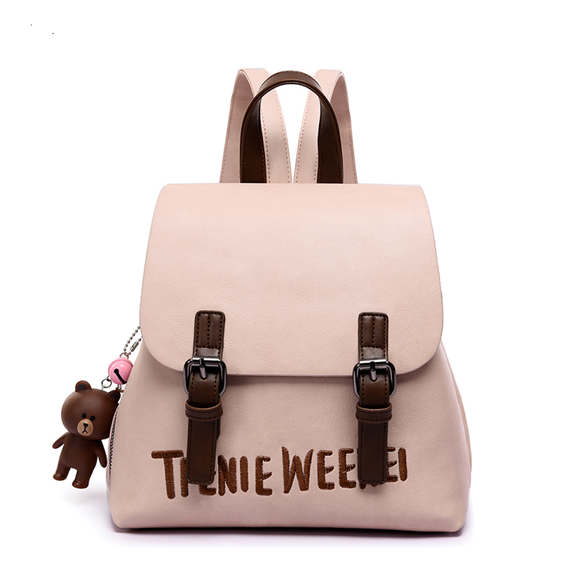 Pu backpack women dot school bag for teenagers girls Preppy Style composite bags set travel high